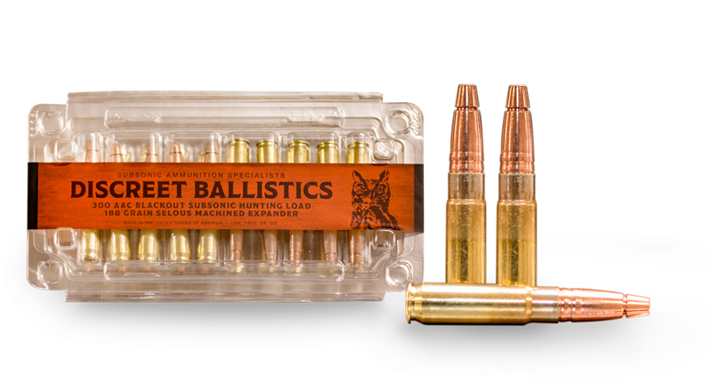 300 AAC Blackout 188gr Subsonic Load Hunting / Self Defense