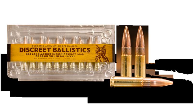 300 Blackout Subsonic Target Ammunition Discreet Ballistics