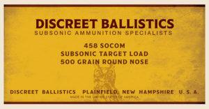 458 SOCOM Subsonic