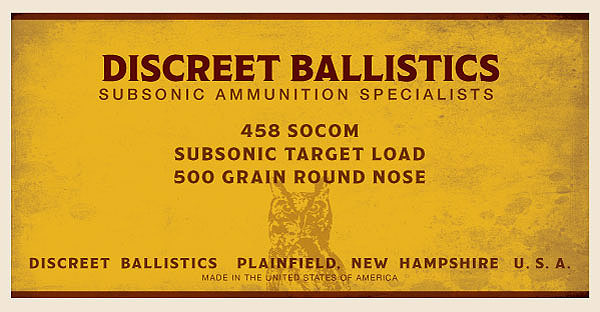 458 SOCOM Subsonic Target Load 500 Grain Round Nose