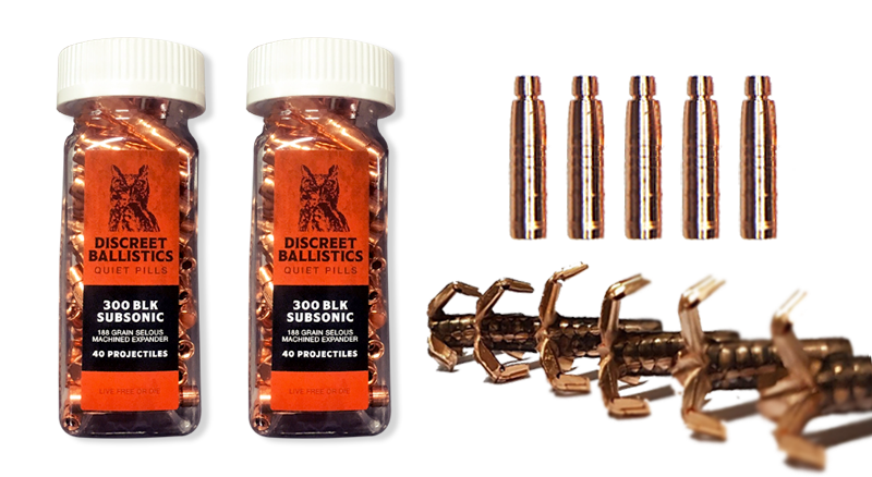 300BLK Selous Machined Expander Projectiles